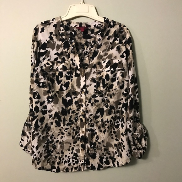 154d132f 212 Collection Tops | Animal Print Button Up Dress | Poshmark